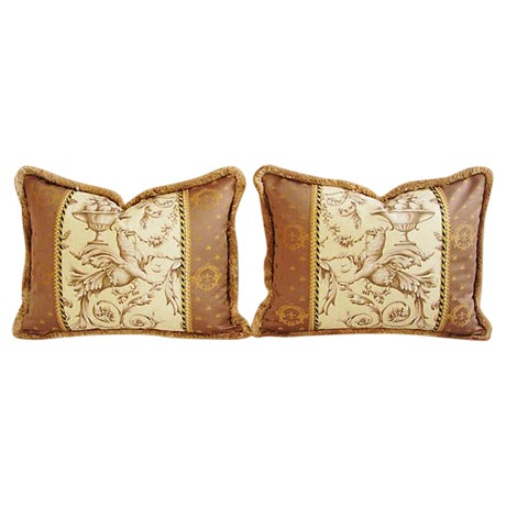 Designer Braemore Mythical Griffin Pillows - Pair - Image 1 of 8