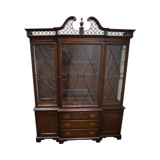 Lexington The Palmer Home Collection Large Mahogany Chippendale Style Breakfront