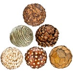 Image of Natural Decorative Balls - Set of 6
