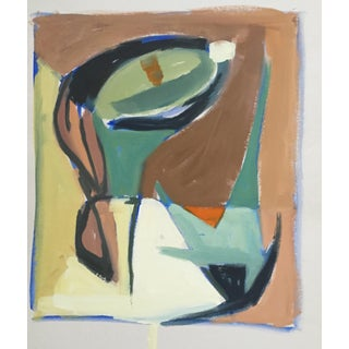 Abstract Gouache 1940-50s Bay Area Vintage