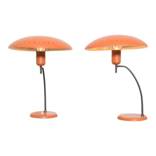 Salmon Louis Kalff Table Lamps for Philips - Pair