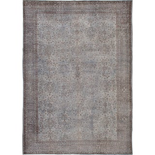 "Vintage Turkish Overdyed Rug - 7'1"" x 10'2"""