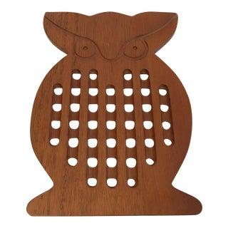 Danish Modern Teak Owl Trivet