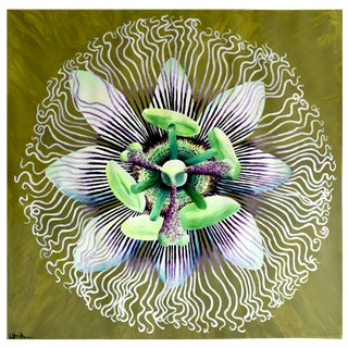 Passion Flower Acrylic Painting