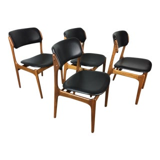 Erik Buck Mid-Century Modern Dining Chairs - Set of 4