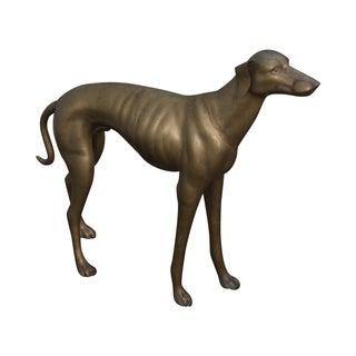 Vintage Brass Whippet Greyhound Dog Statue