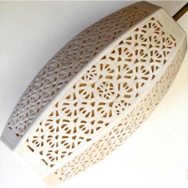 Image of Mid-Century Ceramic Pendant Lights, 1960s Pair