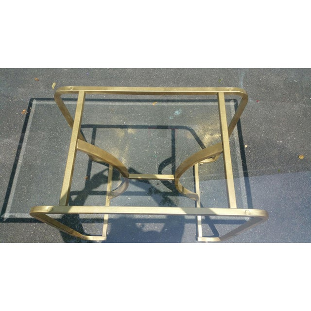 Gold Base & Glass Top Neo Deco Dining Table - Image 5 of 6