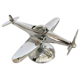 Chrome P-51 Mustang II Airplane Table Lighter by Negbaur