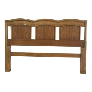 Mid-Century Solid Wood Headboard