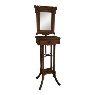 Wood Shaving Stand With Mirror