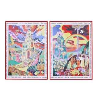 Israeli Biblical Prints - a Pair