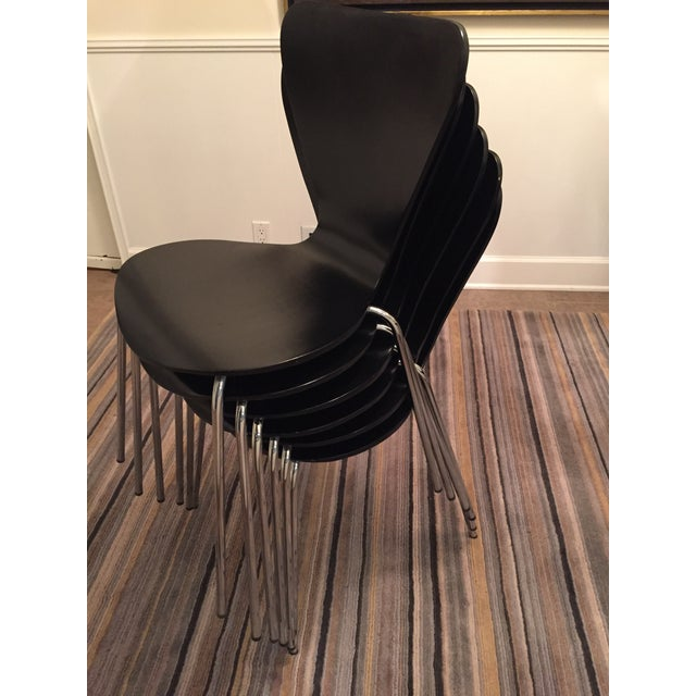 Black Butterfly Dining Chairs - Set of 6 - Image 8 of 9