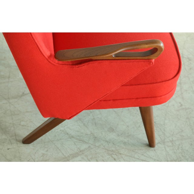 Svend Skipper Attributed 1950s Papa Bear Style Lounge Chair - Image 4 of 8