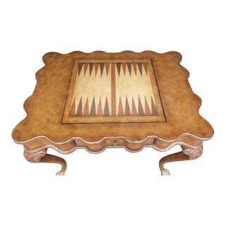 Scalloped Game Table with Claw Feet