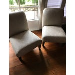 Image of Cisco Home Armless Linen Slipper Chairs - A Pair
