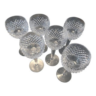 Alana Pattern Waterford Hock Glasses - Set of 6