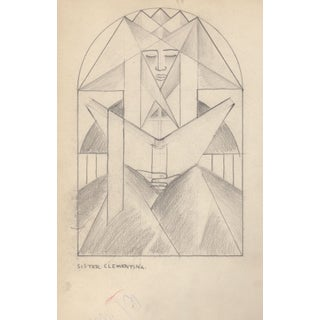 Pencil Drawing Attributed to Helen Forbes c.1940's