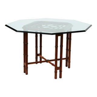 Octagonal Faux Bamboo Dining Table by Hekman