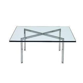 Chrome & Glass Van Der Rohe Barcelona Coffee Table