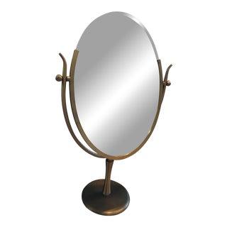 Italian Mid-Century Modern Brass Dressing Mirror