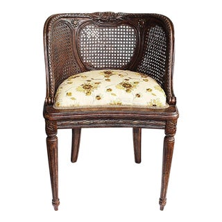 Louis XVI-Style Caned Vanity Chair