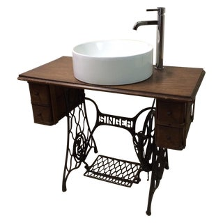 Singer Sewing Table Converted Bathroom Sink Vanity