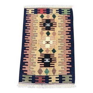 Kilim Handmade Flat Woven Rug - 1'11'' x 2'11''