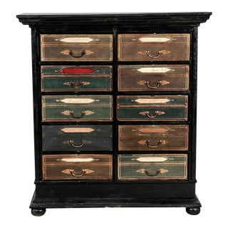 Late 19th Century French Ebonized Oak Linen Chest