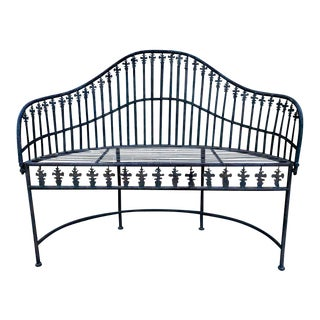 French Wrought Iron Garden Bench