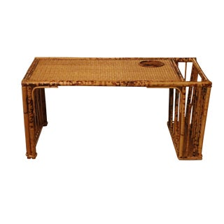 Bamboo Bed Tray with Raffia Top