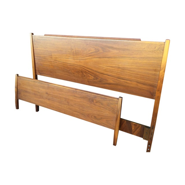 Double Headboard & Footboard by Drexel Declaration - Image 1 of 6