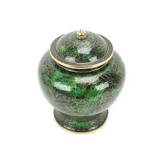 Green Cloisonné Ginger Jar