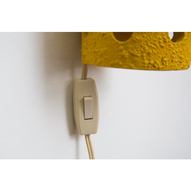 Yellow Ceramic Wall Sconce - Image 7 of 7
