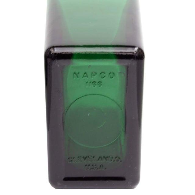 Emerald Green Tall Rectangular Vase - Image 3 of 4