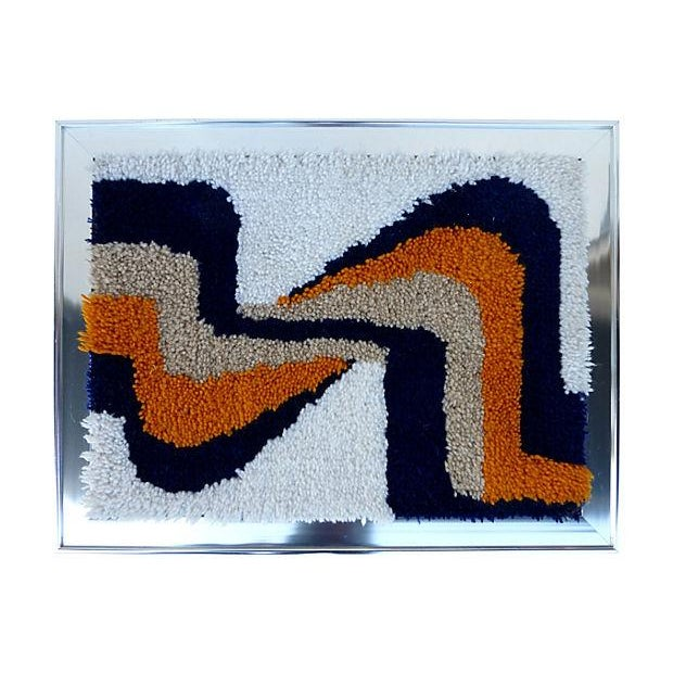 Framed Yarn Tapestry - Image 4 of 4