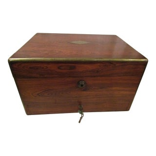 Early Victorian Rosewood & Brass Box