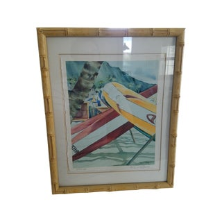 Bamboo Framed Hawaii Print