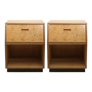 Henredon Burlwood Nightstands, 1970s, USA