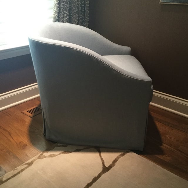 Baker Furniture Upholstered Lounge Chairs & Ottoman - Image 3 of 6