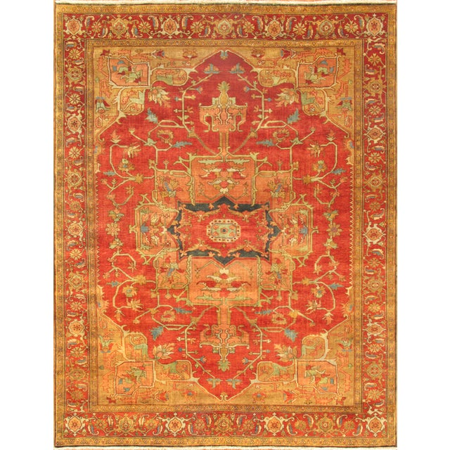 "Pasargad Serapi Collection Red Rug - 4' X 5'11"" - Image 1 of 2"