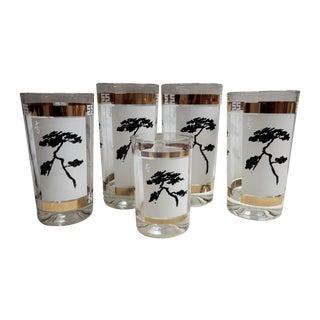 Pagoda Tree Glasses - Set of 5