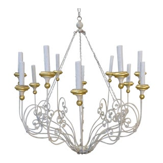 Twelve-Arm Rivoli Chandelier by Niermann Weeks