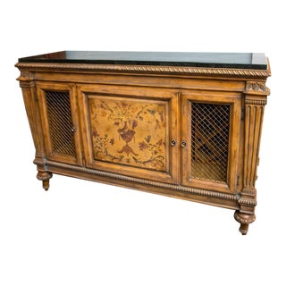 Fantastic Adam's Style Marble-Top Wine Cabinet and Buffet