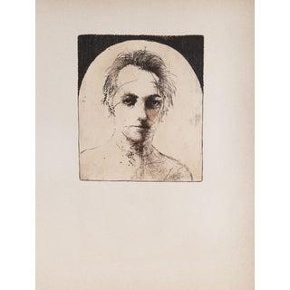 "Leonard Baskin ""Portrait of Man"" Etching"