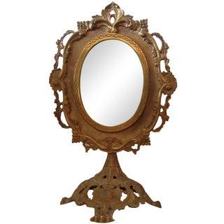 Antique Bronze Frame Swivel Mirror