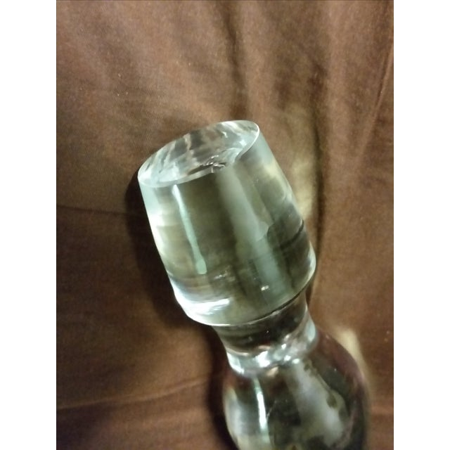 Image of Mid-Century Crystal Tear Drop Decanter