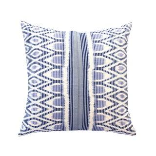 """Merak Azul"" Hand-Made Javanese Ikat Pillow"