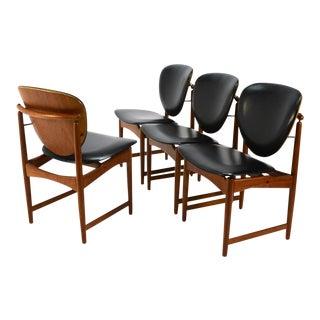 Teak Dining Chairs by Arne Hovmand-Olsen - Set of 4