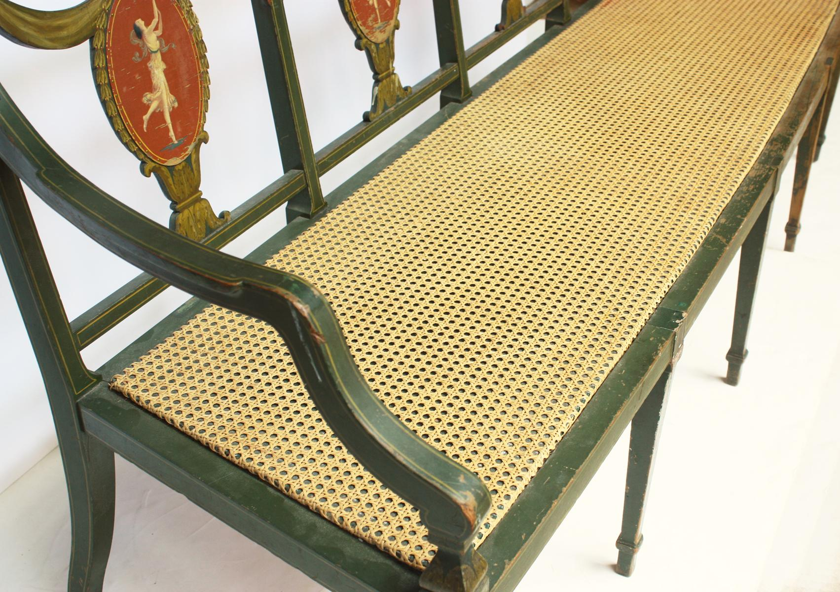 Federal Style Settee By A.H. Davenport Company   Image 5 Of 9